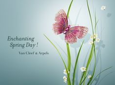 Delicate flowers and graceful butterflies blossom in homage to a precious day: the day of Spring's renewal. #VCAspring  Enjoy Flying Beauties creations: http://goo.gl/24SqYF