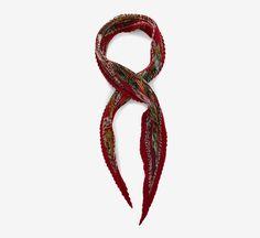 Hermès Red Scarf Pour le style de la nuit