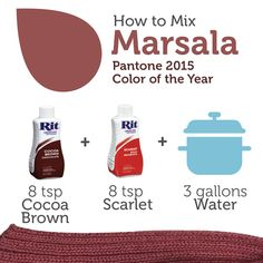 rit dye maroon recipe to make maroon take 2 packets of. Black Bedroom Furniture Sets. Home Design Ideas