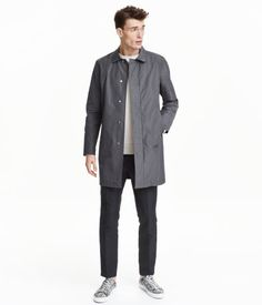 Check this out! Modern Essentials selected by David Beckham. Car coat in lightweight, crisp fabric with a pleat at back for improved movement. Collar, concealed snap fasteners at front, side pockets, and one inner pocket with fastener. Vent at back. Partly lined. - Visit hm.com to see more.
