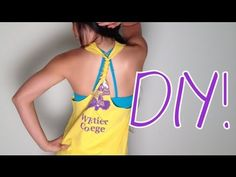 DIY Workout T-Shirt VIDEO Tutorial for those of u who can't follow picture instructions :P