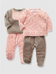 47604e4a2948f Lot de 2 pyjamas bébé 2 pièces velours ASSORTIS - vertbaudet enfant  Vetement Bebe Fille Hiver