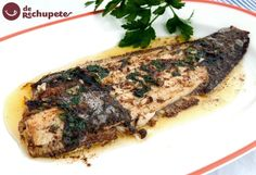 lenguado a la meuniere Fish Dishes, Serving Dishes, Celine, Juice Of One Lemon, Fish And Seafood, Fish Recipes, Steak, Pork, Cooking