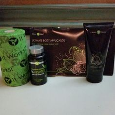 Skinny pack $112 for loyal customers.  Fat fighters,  defining gel,  box of wraps,  and I got the green wrap separately to use for holding my wraps in place.  www.wrapsbytiffanygrace.com