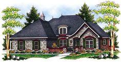 European   Traditional   House Plan 73068