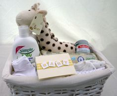 Small New Born Baby Gift Basket withy Simple Baby products £29.95 plus £7.50 carriage to most mainland UK addresses (Ex Scottish Highlands) (Available in girl's, boys or neutral options, and with Johnson's Baby products instead of Simple Baby and in different sizes. Check elsewhere on this site category)