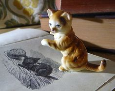 #Small vintage #ceramic calico #ginger cat figurine,  View more on the LINK: http://www.zeppy.io/product/gb/2/332067969522/