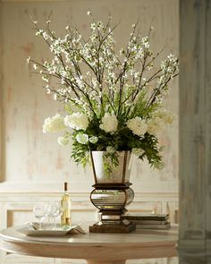 Flower Arrangement Blumen Gesteck / Vasenfüllung mit Zweigen