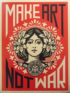Peace Girl by Shepard Fairey on artnet Auctions