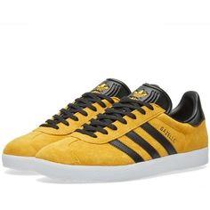 New adidas Gazelle release in Collegiate Gold/Core Black/white sole
