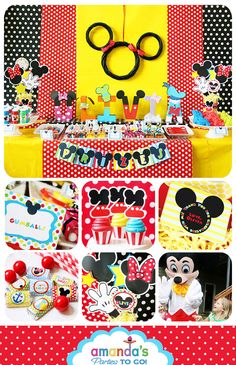 Mickey Mouse Clubhouse Party Printable by AmandasPartiesToGo, $29.00
