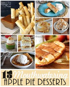 15 Mouthwatering Apple Pie Desserts! They all look absolutely delicious!