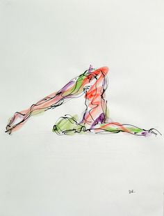 Halasana, available on http://fineartamerica.com/featured/halasana-boryana-korcheva.html, #yoga, #yoga art