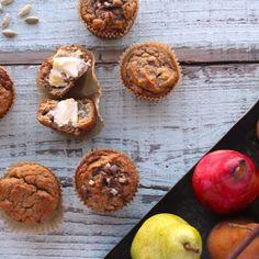 Paleo Pear Cardamom Muffins