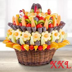 Queen of Fruit will make your next business event, family gathering or birthday even more memorable! This fresh fruit bouquet is always expertly arranged, so you can be sure you'll make a lasting impression on all your VIP guests. Whether you're planning an important meeting, a corporate convention, or a holiday party, Queen of Fruit is the perfect table centerpiece, dessert, and a unique gift.