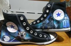 Custom Doctor Who High Top Hand Painted #Shoes