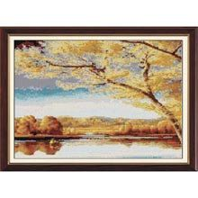Cross Stitch Kit  Autumn View by CrossStitchKitsOnly on Etsy, $25.00
