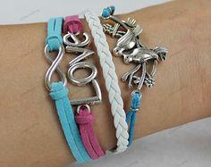 friendship forever bracelets cross bestfriend by lifesunshine, $7.99