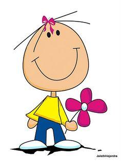 Cute girl holding flower