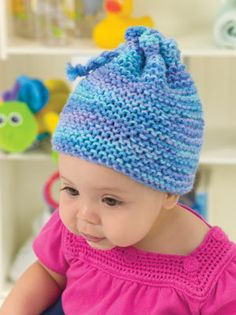 Knit Garter Stitch Baby Hat in Red Heart Super Saver Economy Prints - Discover more Patterns by Red Heart Yarns at LoveKnitting. The world& largest range of knitting supplies - we stock patterns, yarn, needles and books from all of your favorite brands. Baby Hat Knitting Pattern, Baby Hat Patterns, Baby Hats Knitting, Loom Knitting, Knitting Patterns Free, Knit Patterns, Knitted Hats, Free Pattern, Knitting Ideas