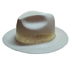 Gold 24K bands and detailed Panama Hats by shopandes on Etsy