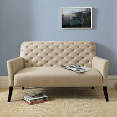 Elton Settee | west elm ~ loveseat, put on a couple of pillows and a colorful throw and you got yourself a comfy reading spot