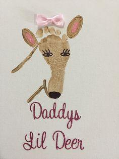 Daddy's Lil Deer Footprint New baby crafts, Crafts for kids, Baby crafts, Toddler crafts, Foo. New Baby Crafts, Fathers Day Crafts, Daycare Crafts, Preschool Crafts, Daycare Rooms, Toddler Art, Toddler Crafts, Infant Crafts, Diy For Kids