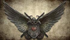 dark_angels ilacha(ilich-henriquez) imperium logo space_marines wings