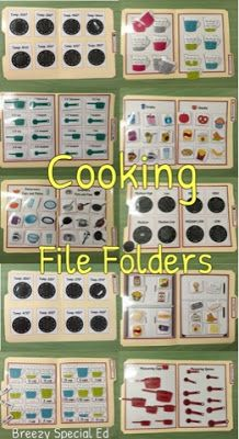 Kitchen and Cooking File Folders for Special Education Kitchen and Cooking File Folders for Special Education,Camp buddy Functional teaching ideas for multi-needs special education, with a transition / life skills focus. Life Skills Lessons, Life Skills Classroom, Teaching Life Skills, Teaching Special Education, Autism Classroom, Classroom Activities, Teaching Ideas, Classroom Ideas, School