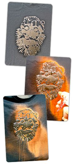 Use bleach & stencils to create a one-of-a-kind t-shirt design! #DIY