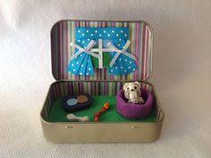 Pet Dog/PuppyToy Tin Squinkie/ Quiet Time Tin, Altoid Tin,Travel Play Set,Travel toy, Valentines Day Gift