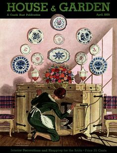 View Maid looking into sideboard, plates displayed on wall above by Pierre Brissaud on artnet. Browse upcoming and past auction lots by Pierre Brissaud. Art And Illustration, Illustrations Vintage, Magazine Illustration, Art Nouveau, Pin Up, Art Français, Framed Art, Wall Art, Plate Display