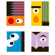 Modern sesame street posters that reinterpret our favorite characters