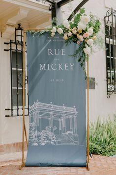 Engagement Decorations, Ceremony Decorations, Top Wedding Trends, Wedding Details, Beautiful Calligraphy, Wedding Calligraphy, Blue And Blush Wedding, Wedding Signage, Wedding Reception