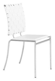 Zuo Modern Criss Cross Dining Chair  in White (Set of 4)