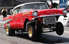 Gassers were a class of drag racing in the and that had tried to limit a car's chassis, wheelbase and engine location. The classic gassers were Dragster Car, Chevy Hot Rod, 1957 Chevy Bel Air, 1957 Chevrolet, Chevrolet Chevelle, Old Race Cars, Kustom Kulture, Vintage Race Car, Drag Cars