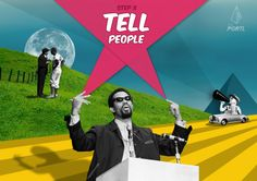 Step 8 - Tell People | THE PORTL will help you UNEARTH & PURSUE your Life's Purpose #shout #collage #design #podium #speaker #inspirational #talk