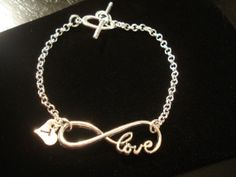 Personalized Infinity Love Bracelet with Heart by TJsTreasureChest, $14.00