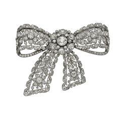Broche Piezas antiguas Platino, diamantes Cartier
