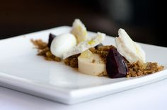Coffee-roasted beets, caramelized white chocolate, Georgia olive oil, buttermilk