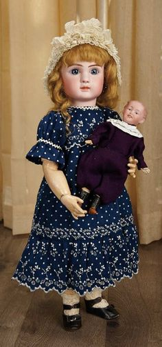 Sanctuary: A Marquis Cataloged Auction of Antique Dolls - March 19, 2016: French Bisque Bebe, Figure A, by Jules Steiner
