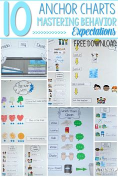 Classroom behavior and expectation charts to use in your kindergarten classroom. Help students self-monitor their own behavior. Free Download included!