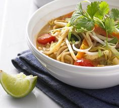 Get a taste of Thai with this quick and easy noodle soup cooked all in one pan