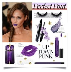 """Statment lip"" by tauriel25 ❤ liked on Polyvore featuring beauty, Anastasia Beverly Hills, shu uemura, GALA, Thierry Mugler, Laura Cole, Lancôme, H&M, purplelip and polyvoreeditorial"