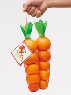 """A """"Golden Carrot"""", incredibly clever packaging to wish success"""