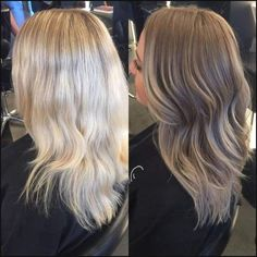 Medium, Beachy Waves with Ombre Highlights - 40 On-Trend Balayage Short Hair Looks - The Trending Hairstyle Blonde Hair Colour Shades, Ombre Hair Color, Ombre Style, Bayalage, Balayage Hair, Dark Blonde Balayage, Blonde Ombre, Dark To Blonde, Dark Blonde Hair With Highlights