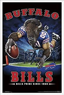 Trends International Buffalo Bills End Zone 17 Wall Poster 24 25 X 35 75 Multi Party Event Diy Tableware Nfl Buffalo Bills Buffalo Bills Bills Football