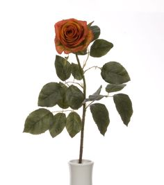 27.5'' Confetti Rose Spray Orange Rust