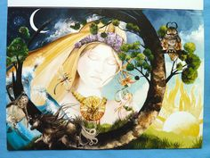 Picture of Laura's Dream as a greetings card Creating A Brand, Greeting Cards, Princess Zelda, Illustration, Prints, Anime, Pictures, Fictional Characters, Image