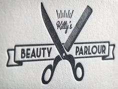 new logo for Kitty's Beauty Parlour by MikeGalore, via Flickr